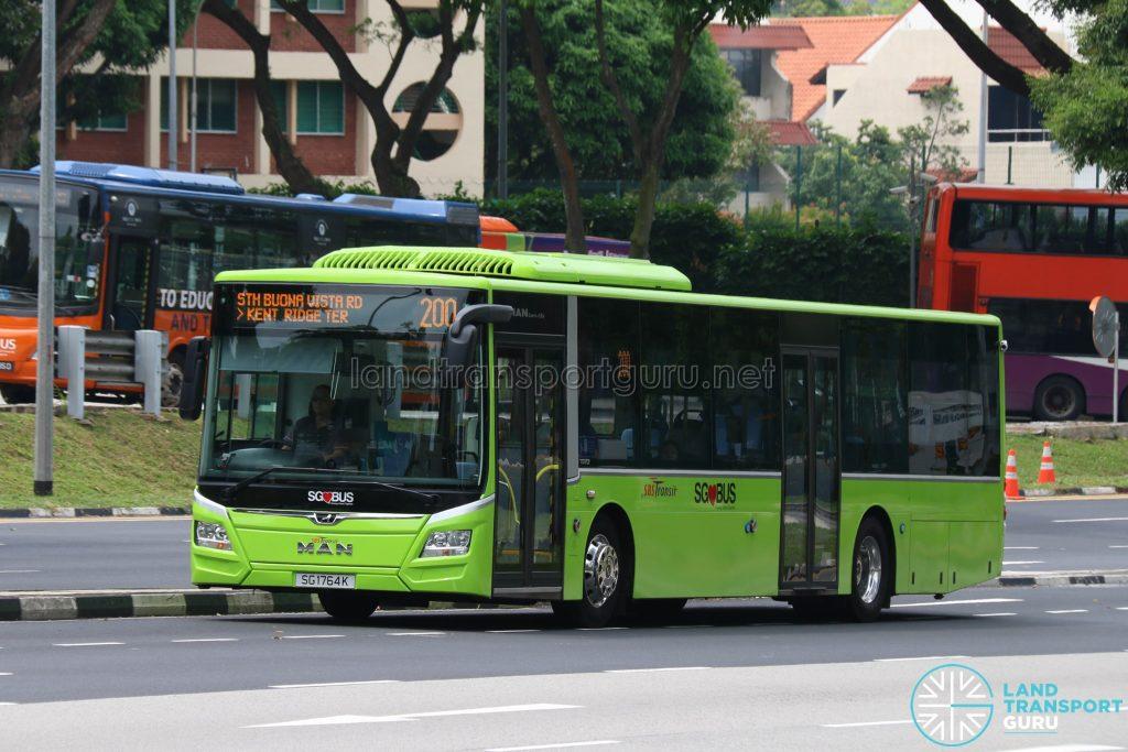 Bus 200 - SBS Transit MAN Lion's City A22 Euro 6 (SG1764K)