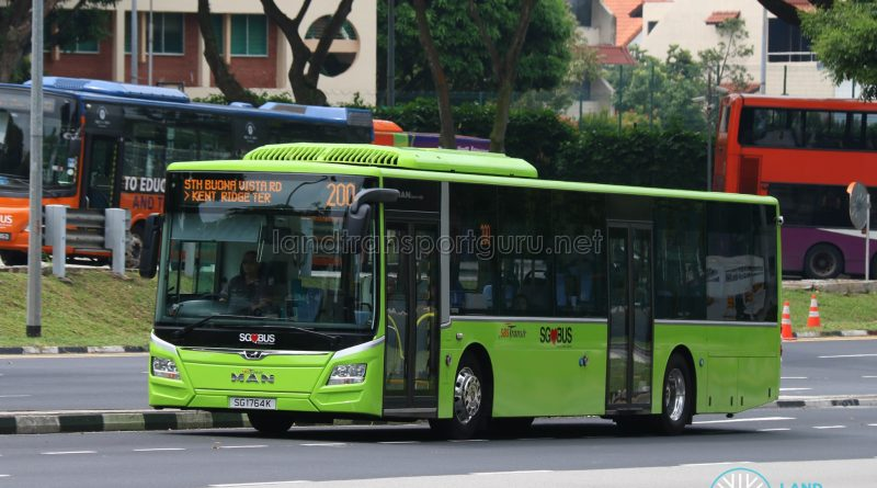 Bus 200 - SBS Transit MAN Lion's City A22 Euro 6 (SG1764K)