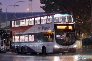 Service 70 - SBS Transit Volvo B9TL Wright (SG5180T)