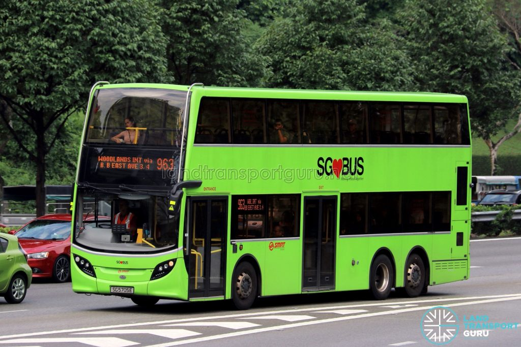 Service 963 - SMRT Buses Alexander Dennis Enviro500 (SG5705E)