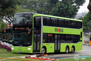Express 151e - SBS Transit MAN Lion's City DD A95 (SG5853K)