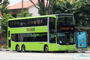 Service 43 - Go-Ahead Singapore MAN Lion's City DD A95 (SG5914T)