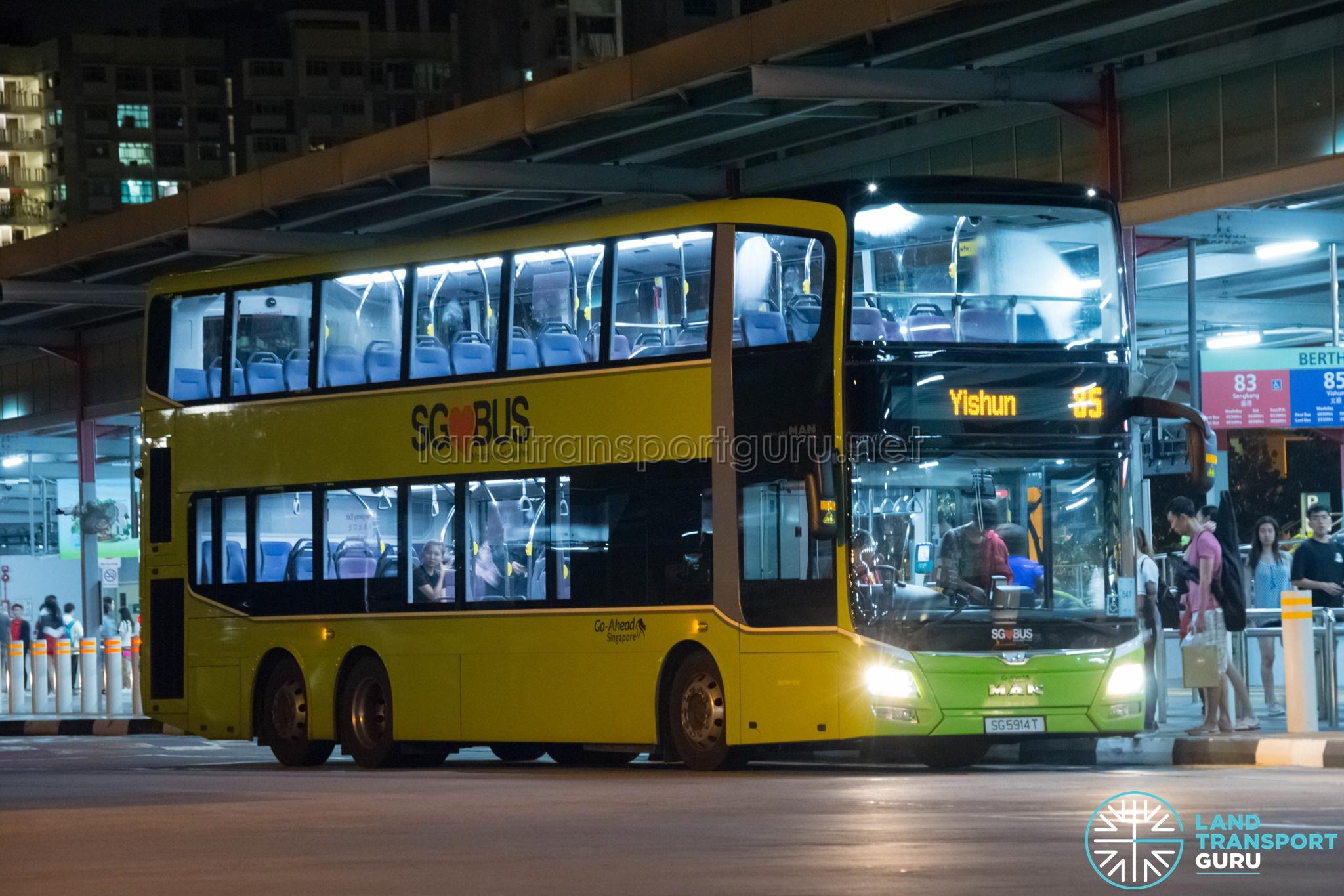 Service 85 - Go-Ahead Singapore MAN A95 (SG5914T)
