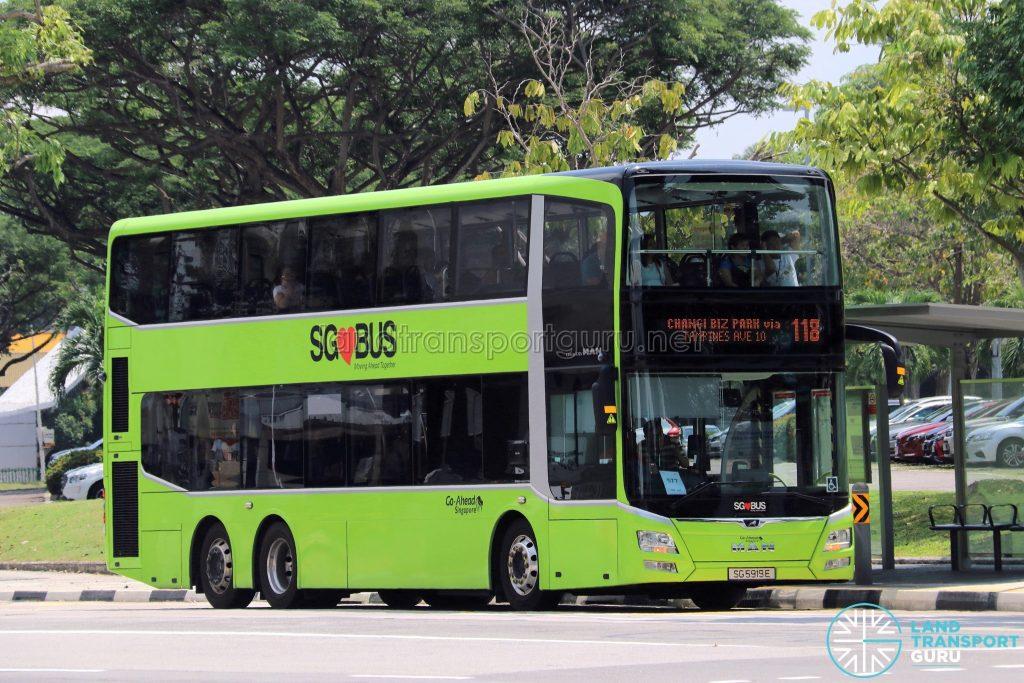 Service 118 - Go-Ahead Singapore MAN Lion's City DD A95 (SG5919E)