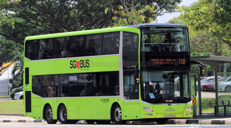 Service 118 - Go-Ahead Singapore MAN Lion's City DD A95 (SG5919E)