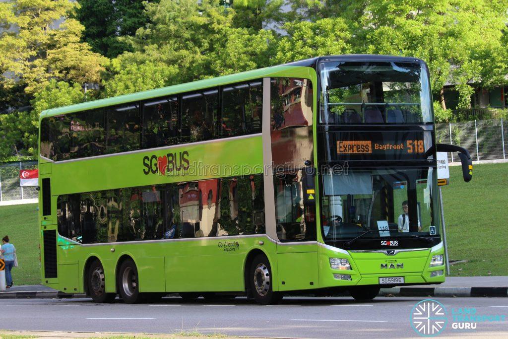 Express Bus 518 - Go-Ahead MAN Lion's City DD A95 (SG5919E)