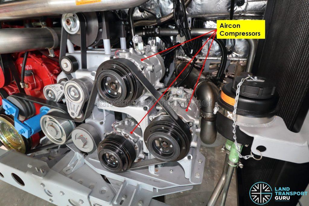 ADL Enviro500 (Euro 6) Chassis - Aircon compressors