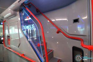 ADL E500 3-Door Concept Bus - Front staircase