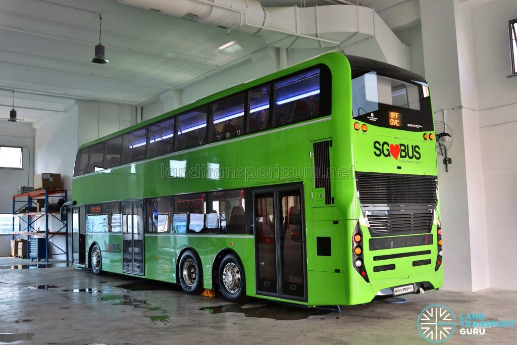 ADL E500 3-Door Concept Bus - Rear
