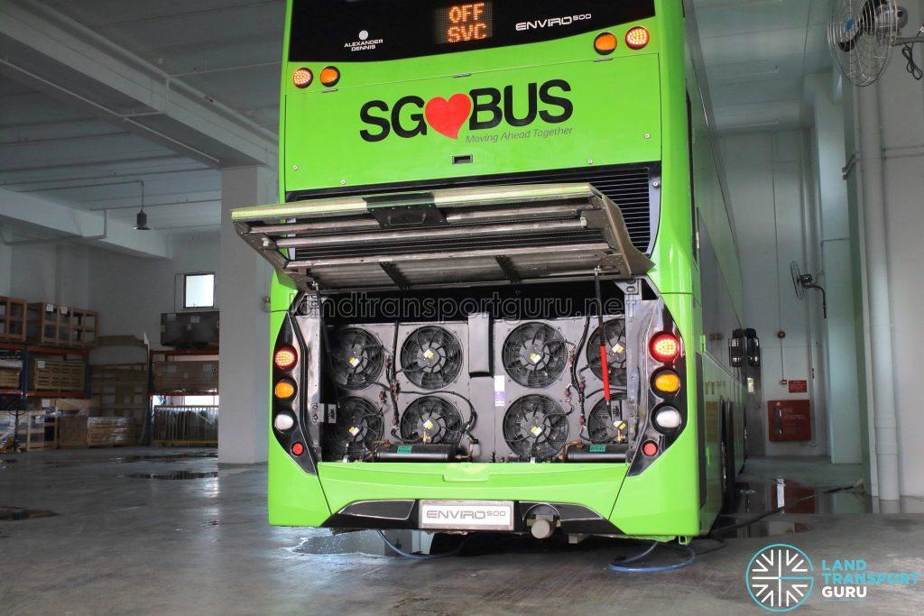 ADL E500 3-Door Concept Bus - Aircon condenser unit