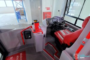 ADL E500 3-Door Concept Bus - Driver's cabin