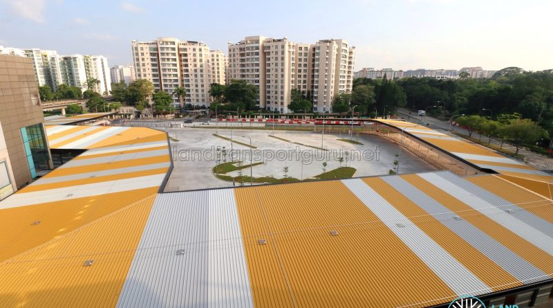Choa Chu Kang Temporary Bus Interchange - Overhead View