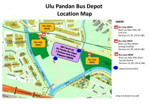 Ulu Pandan Bus Depot Carnival - Location Map as published by SBS Transit