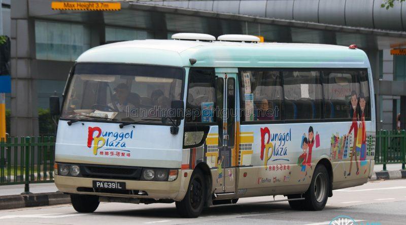 Punggol Plaza Shuttle Bus - Mitsubishi Rosa (PA6391L)