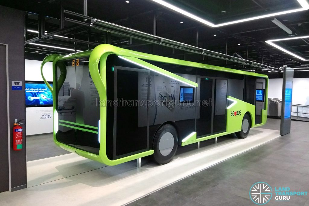 Bus Exhibit at the Singapore Mobility Gallery (Front)