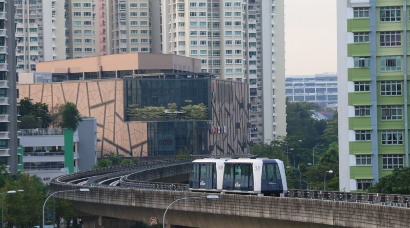 Sengkang LRT Stock Photo