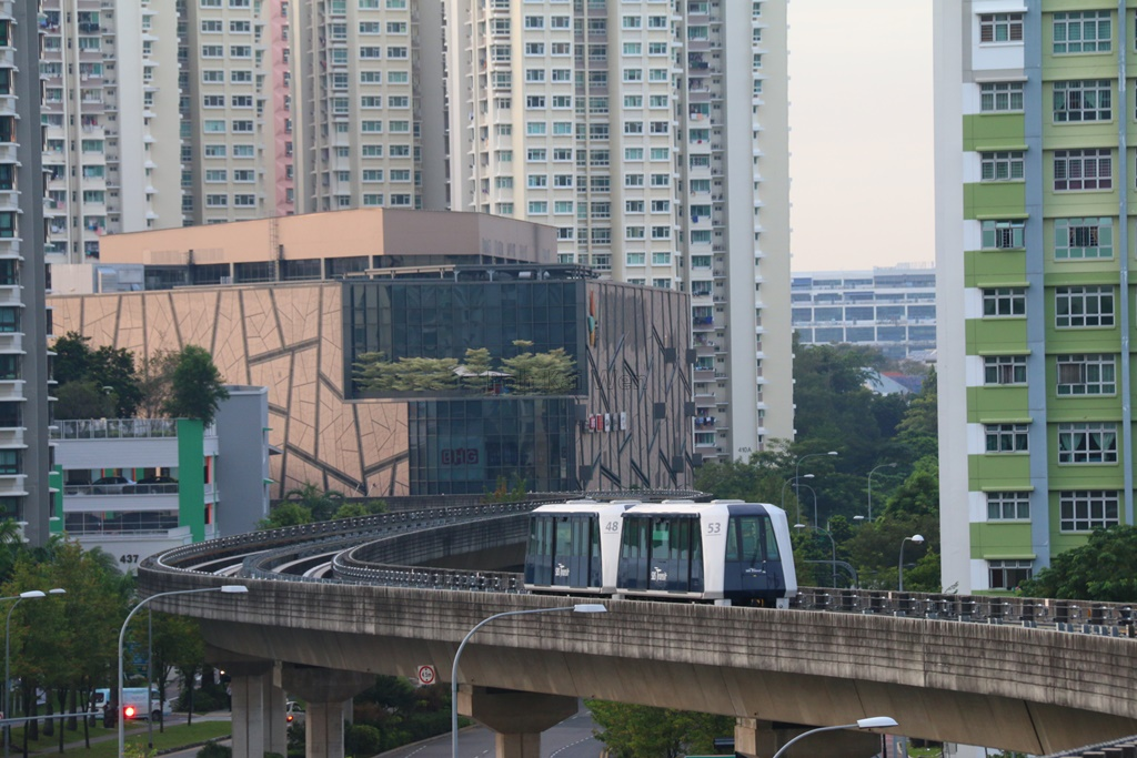 Sengkang LRT Stock Photo