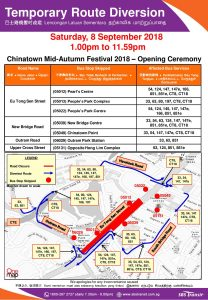 SBS Transit Poster for Chinatown Mid-Autumn Festival 2018 - Opening Ceremony