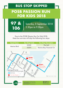 Tower Transit Poster for POSB PAssion Run For Kids 2018