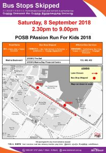 SBS Transit Poster for POSB PAssion Run For Kids 2018