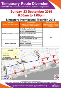SBS Transit Poster for Singapore International Triathlon 2018