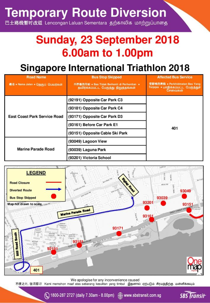 SBS Transit Poster for Singapore International Triathlon 2018