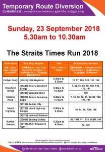 SBS Transit Poster for The Straits Times Run 2018