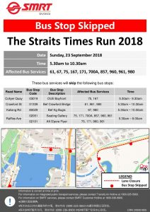 SMRT Buses Poster for The Straits Times Run 2018