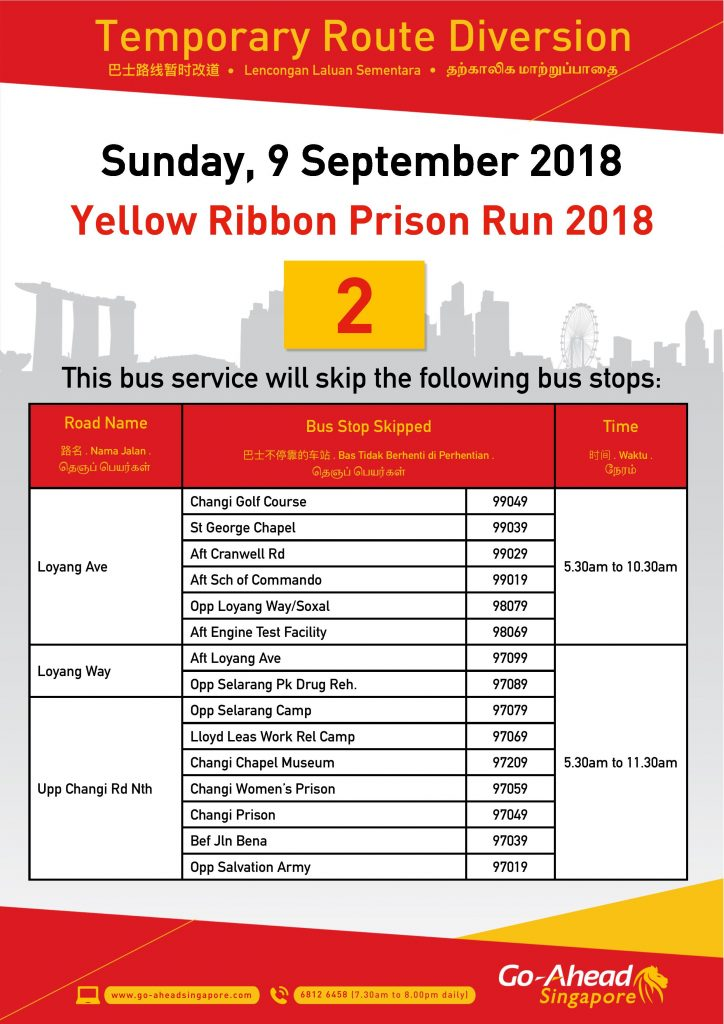 Go-Ahead Singapore Poster for Yellow Ribbon Prison Run 2018