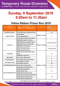 SBS Transit Poster for Yellow Ribbon Prison Run 2018
