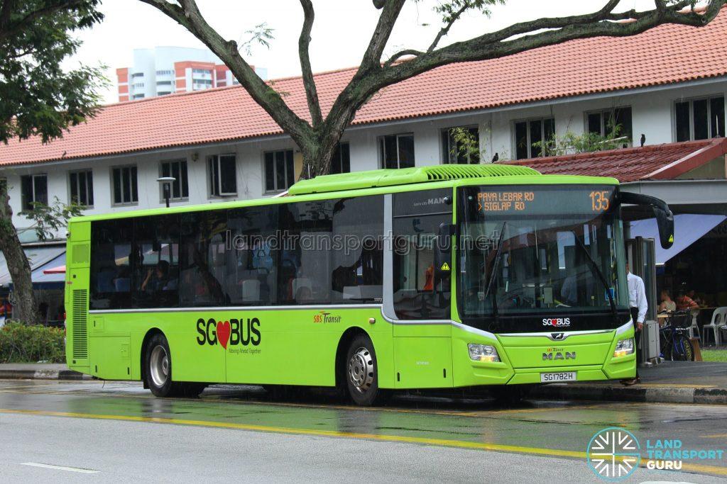 Bus 135: SBS Transit MAN Lion's City A22 (SG1782H)