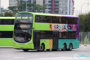 Ulu Pandan Bus Depot Carnival Shuttle: SBS Transit Volvo B9TL Wright (SG5485P)