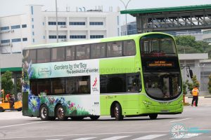 UPDEP - Bt Merah/Harbourfront Shuttle: SBS Transit Volvo B9TL Wright (SG5486L)