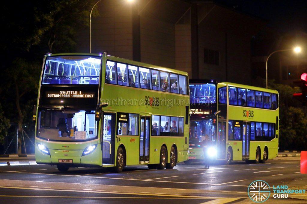 Shuttle 1 - SMRT Buses Alexander Dennis Enviro500 (SG5711L) & MAN A95