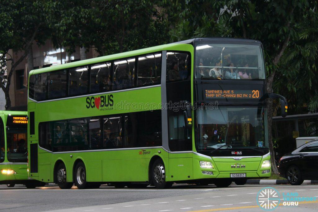Bus 20 - SBS Transit MAN Lion's City DD A95 (SG5831Z)