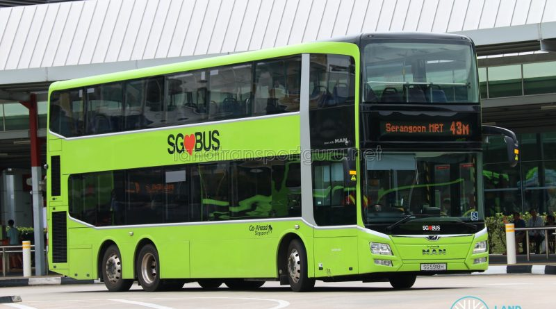 Bus 43M - Go-Ahead MAN Lion's City DD A95 (SG5918H)