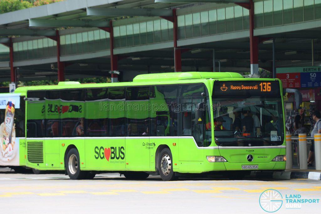Bus 136 - Go-Ahead Mercedes-Benz Citaro (SBS6535H): Happy Deepavali