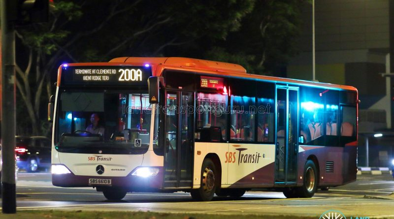 Service 200A - SBS Transit Mercedes-Benz Citaro (SBS6610B)