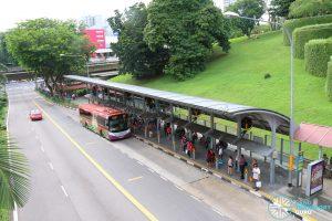 Ang Mo Kio MRT Station Bus Stop Fans - Overhead