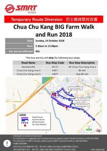 SMRT Buses Poster for Choa Chu Kang BIG Farm Walk and Run 2018