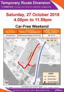 SBS Transit Poster for Car-Free Weekend Oct 2018 (Sat)