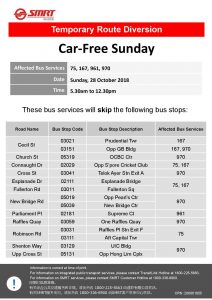 SMRT Buses Poster for Car-Free Sunday Oct 2018