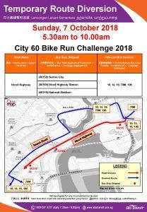 SBS Transit Poster for City 60 Bike Run Challenge 2018