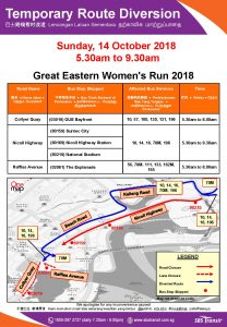 SBS Transit Poster for Great Eastern Women's Run 2018