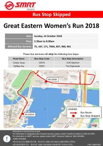 SMRT Buses Poster for Great Eastern Women's Run 2018