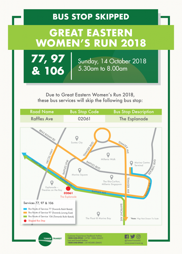 Tower Transit Poster for Great Eastern Women's Run 2018