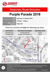 SMRT Buses Poster for Purple Parade 2018