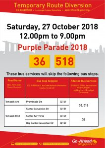 Go-Ahead Singapore Poster for Purple Parade 2018
