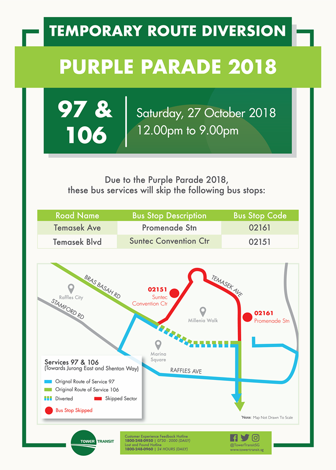 Tower Transit Poster for Purple Parade 2018