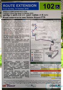 Service 102: Extension to Seletar Airport poster